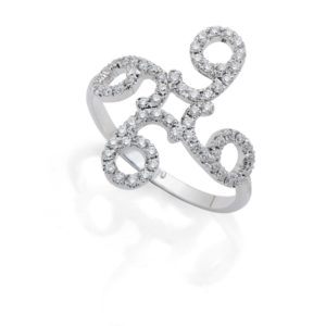 Ring Wholeness 9 with Diamonds